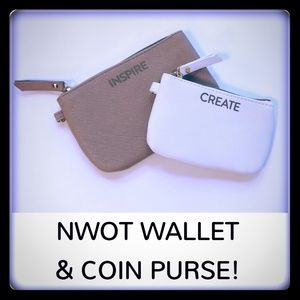 Handbags - NWOT Wallet and Coin Purse Set